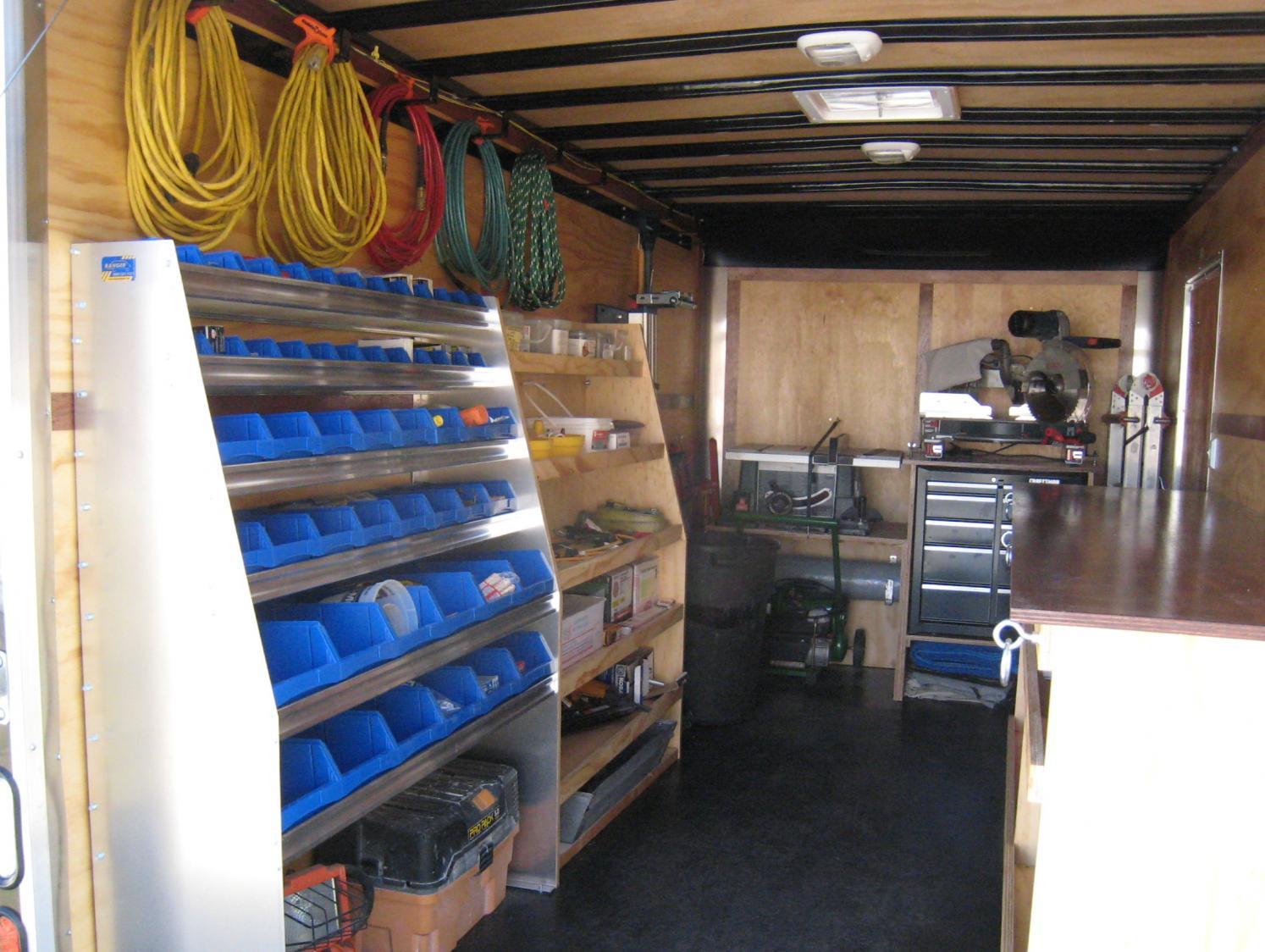 Carpenter Cargo Trailer Set Up