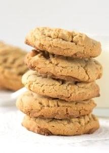 Peanut Butter Butterscotch Cookies - peanut butter cookies filled with butterscotch chips.