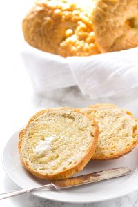 Homemade Bagels - dense chewy homemade bagels that taste amazing! Add some butter and cream cheese and you'll have the perfect breakfast.