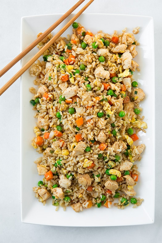 Rice Chicken Asian And Brown