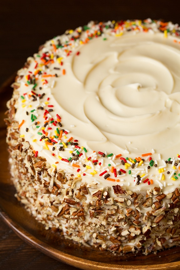 Autumn Spice Cake With Cream Cheese Frosting Cooking Classy