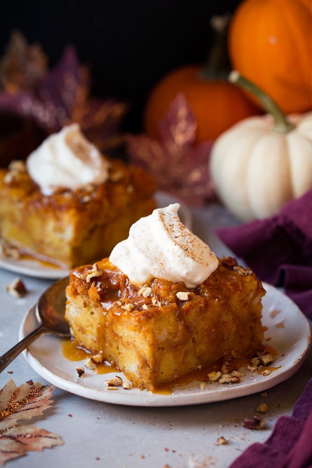 Pumpkin Bread Pudding Cooking Classy