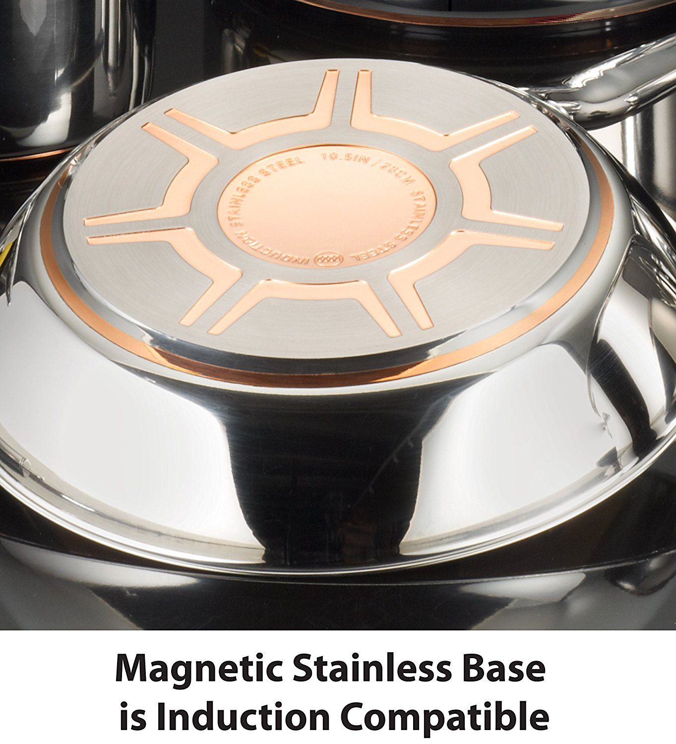 T-fal C836SC pans magnetic stainless steel base