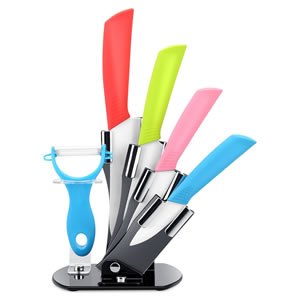 Ceramic Kicthen Knife Set and Vegetable Peeler 6-Piece Set Review