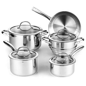 Cooks Standard 9-Piece Stainless Steel Cookware set Review