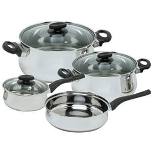 Magefesa Deliss Stainless Steel 7-Piece Cookware Set