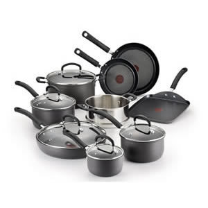 T-fal E765SE 14-Piece Ultimate Hard Anodized Cookware Set