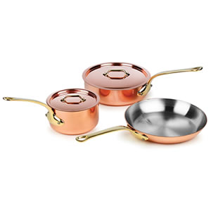 Mauviel M'heritage M250B 5-piece Copper Cookware Set