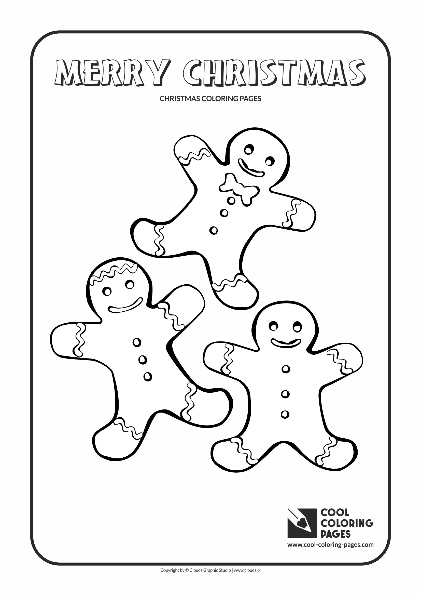 Gingerbread Men Coloring Page Cool Coloring Pages
