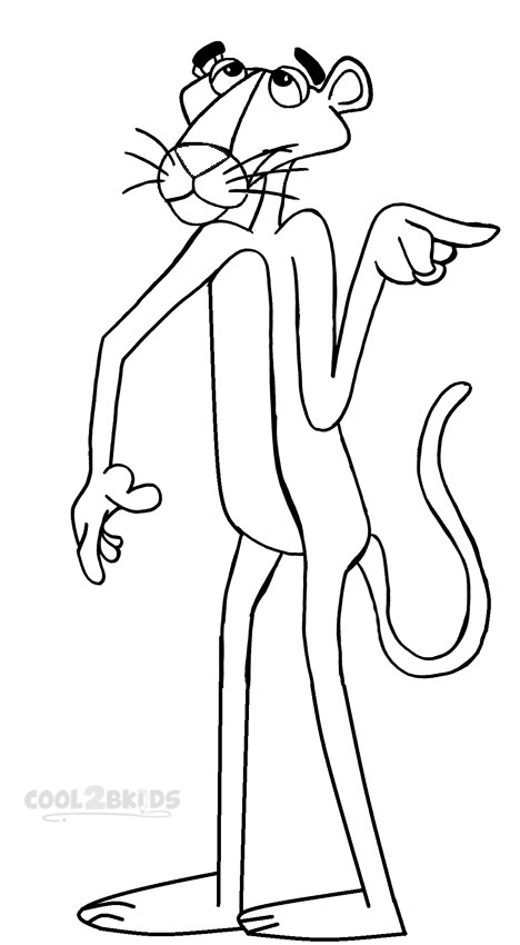 pink panther coloring pages # 22