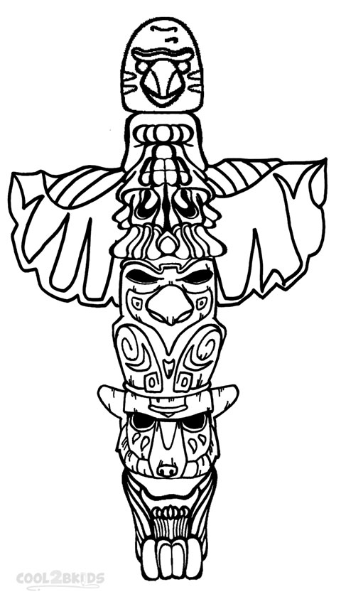 totem pole coloring pages # 5