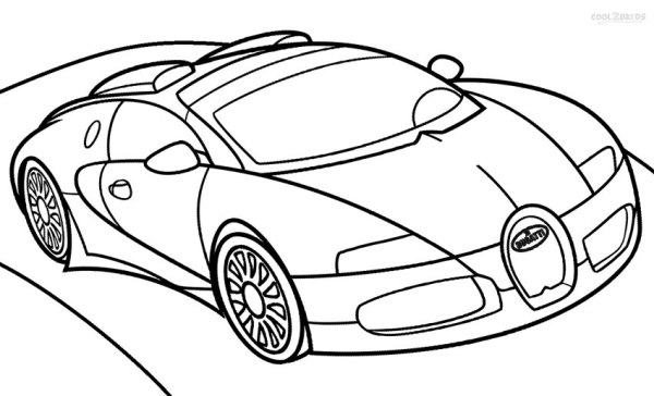 coloring page car # 42