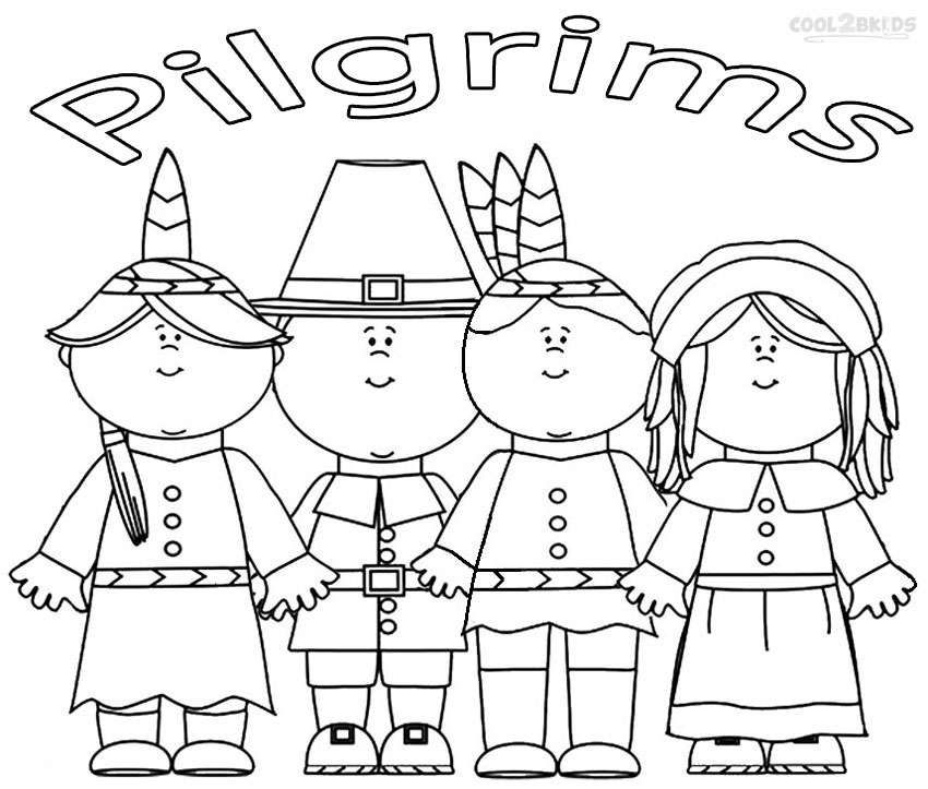 And Coloring Indian Pilgrim Pages
