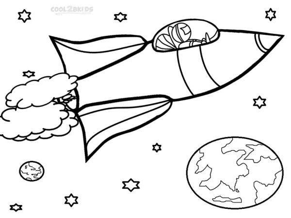 rocket ship coloring pages # 2