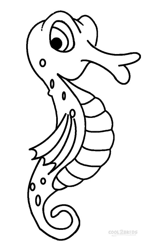 Animal Coloring Pages Seahorse