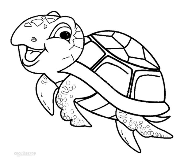 coloring pages turtle # 5
