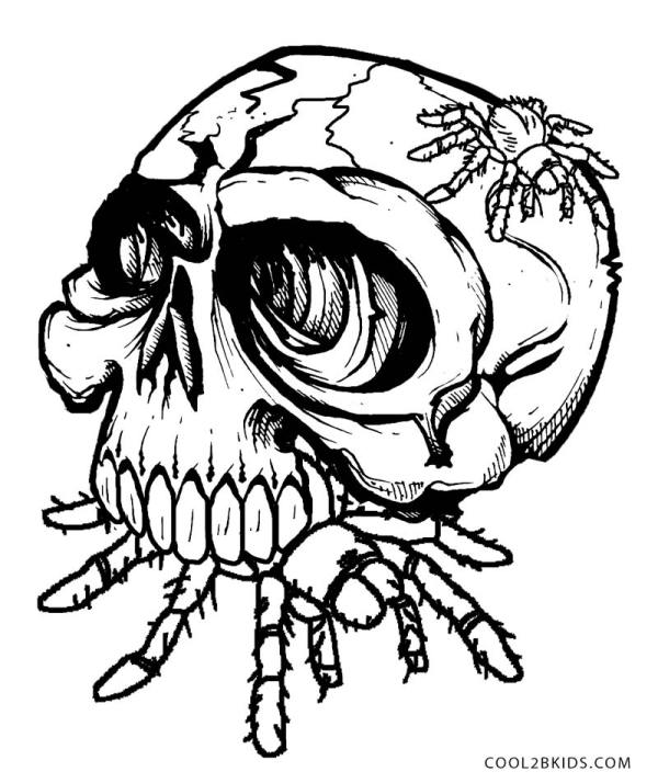 skulls coloring pages # 37