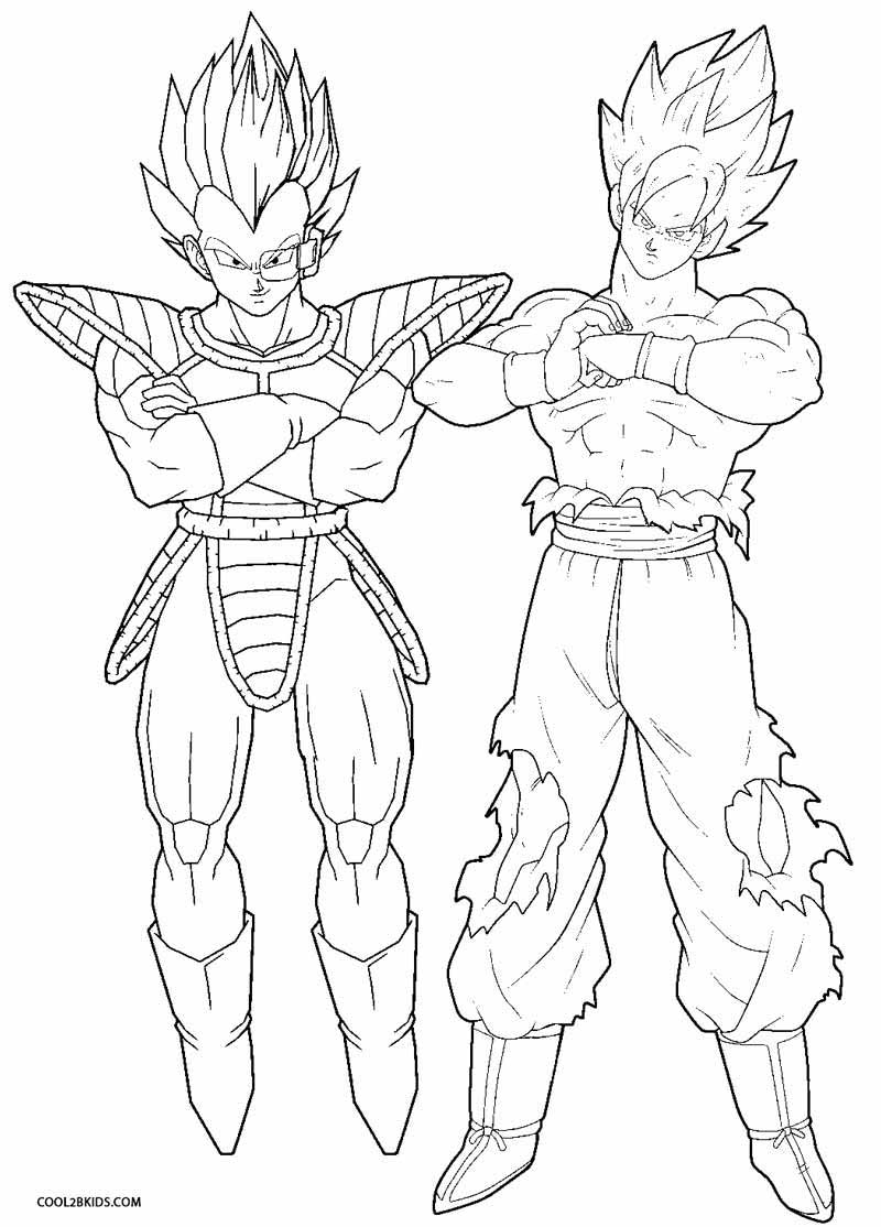 Free Coloring Pages Download Printable Goku For Kids Cool2bkids Of Page