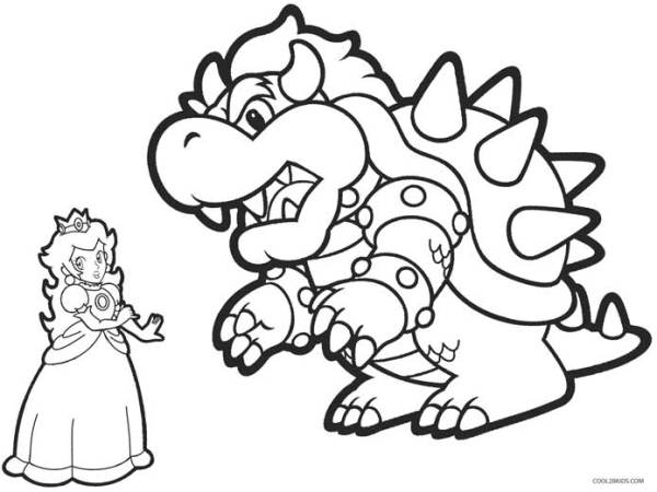 bowser coloring page # 11