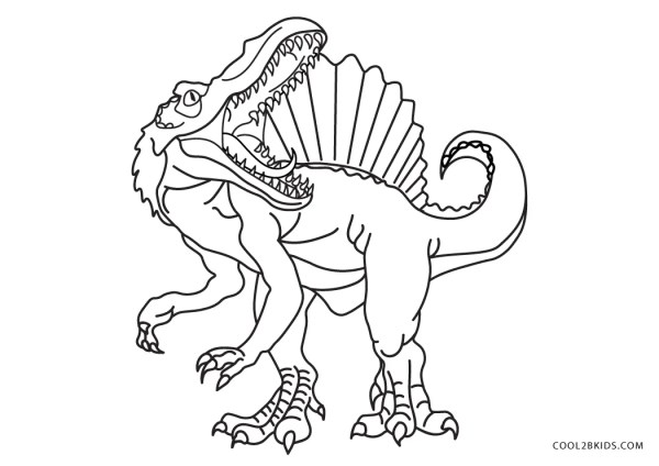 free printable dinosaur coloring pages # 2