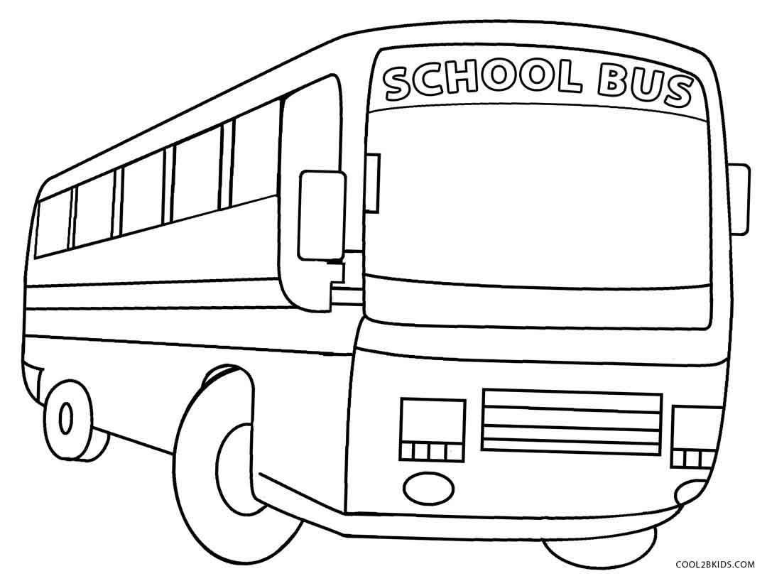 Printable School Bus Coloring Page For Kids Cool2bkids