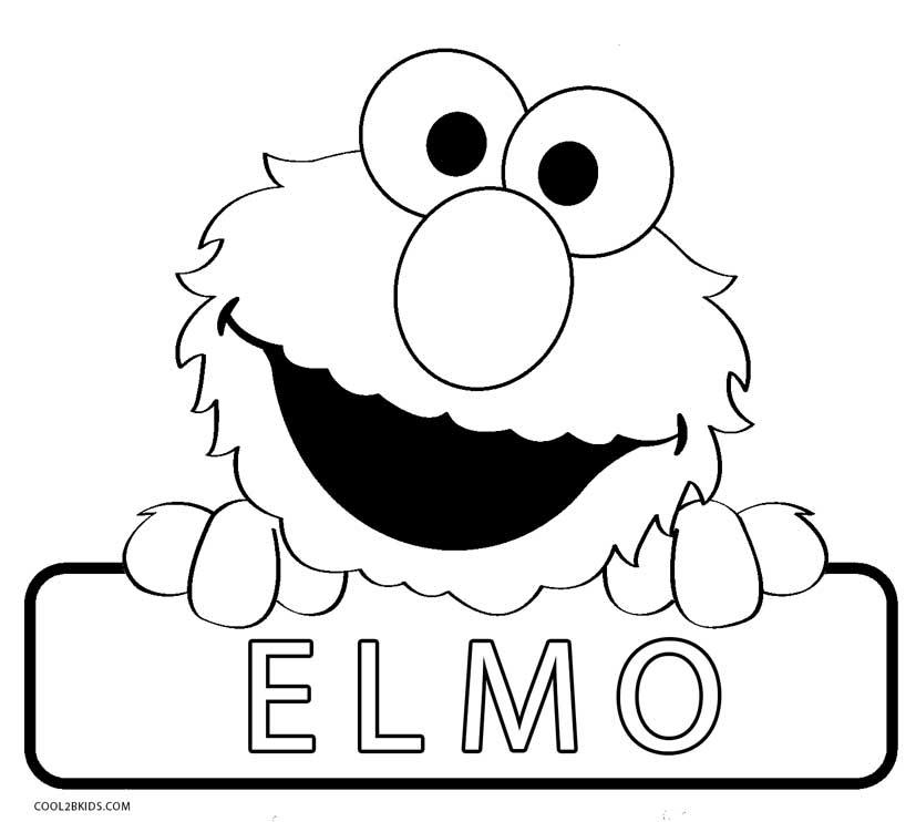 Elmo Halloween Coloring Printable