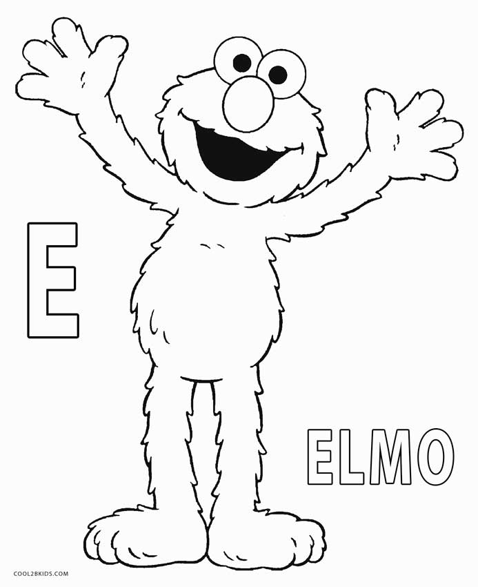 Coloring Halloween Printable Elmo