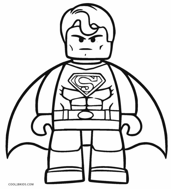 lego superman coloring pages # 0