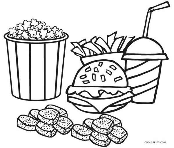 coloring pages food # 1