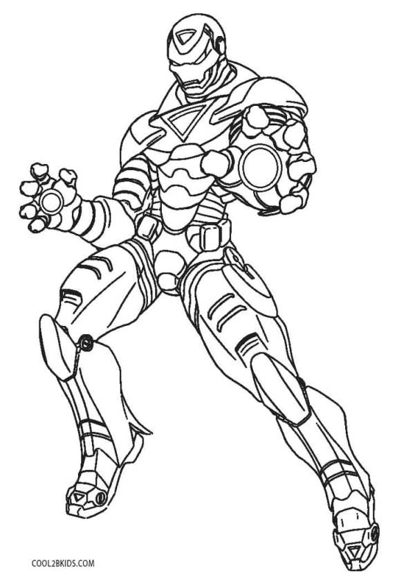 ironman coloring page # 12