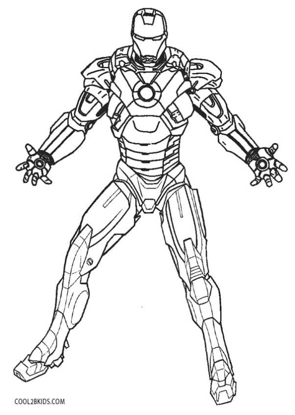 ironman coloring page # 3