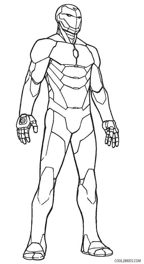 ironman coloring page # 26