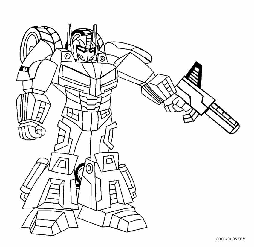 Robots Page Transformer Coloring Disguise Bumblebee