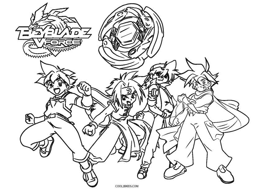 Burst Beyblade Pages Coloring