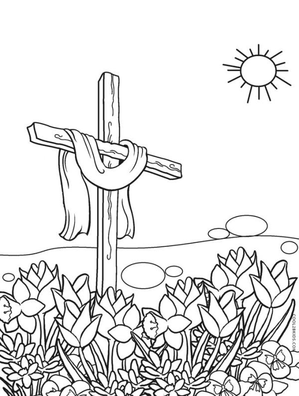 jesus on the cross coloring page # 18