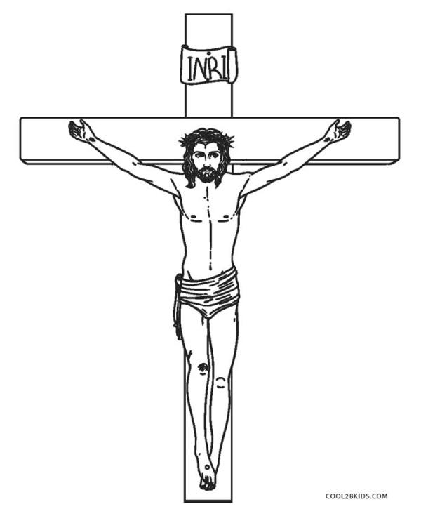 jesus on the cross coloring page # 3