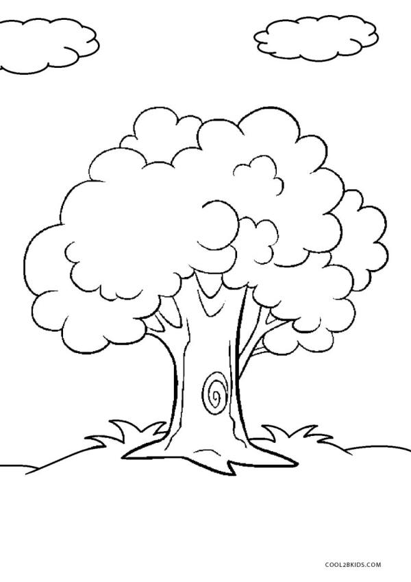 coloring pages of trees # 3