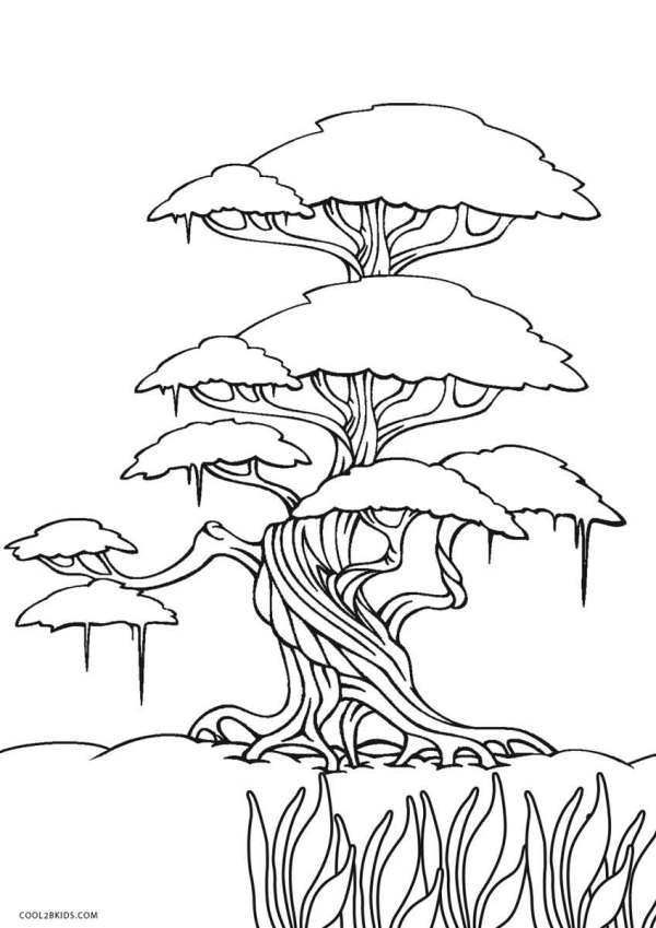 trees coloring pages # 40