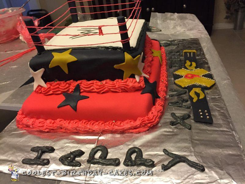 Cool Two Tier Wwe Ring Cake