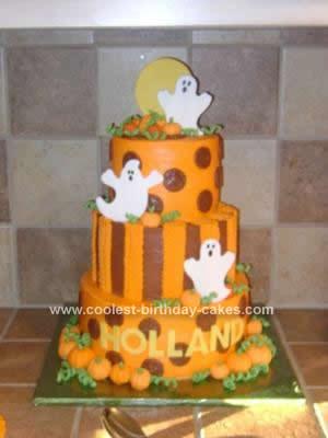 Coolest Halloween Ghost Birthday Cake
