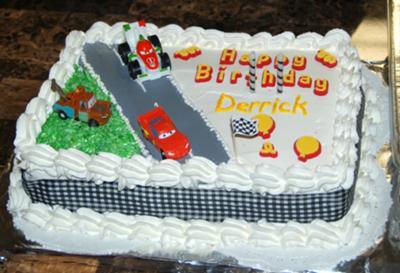 Coolest Cars Birthday Cake