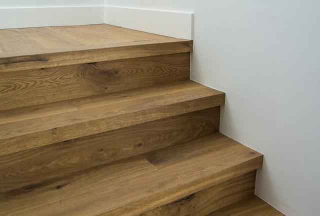 Custom Square Nose Stair Treads Cooper Floors | Custom Oak Stair Treads