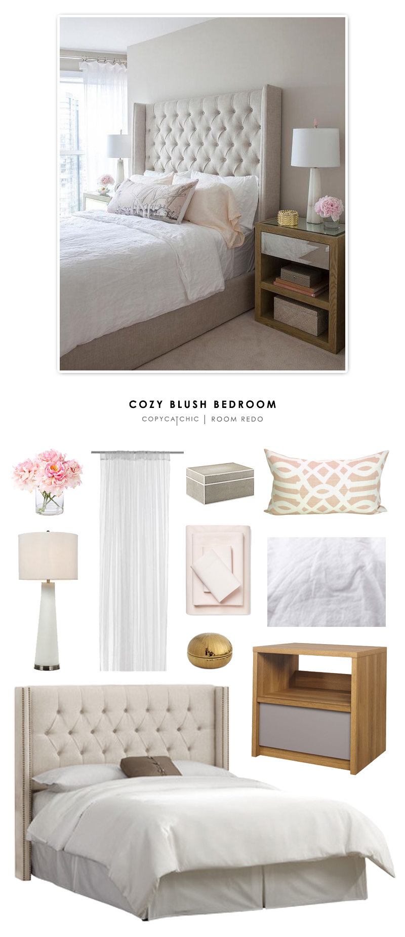 Copy Cat Chic Room Redo Cozy Blush Bedroom Copycatchic