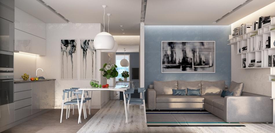 Квартира в скандинавском стиле Дизайн студия Corner