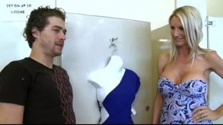 Hot blonde Milf Emma Starr climbed in the Clothing Store