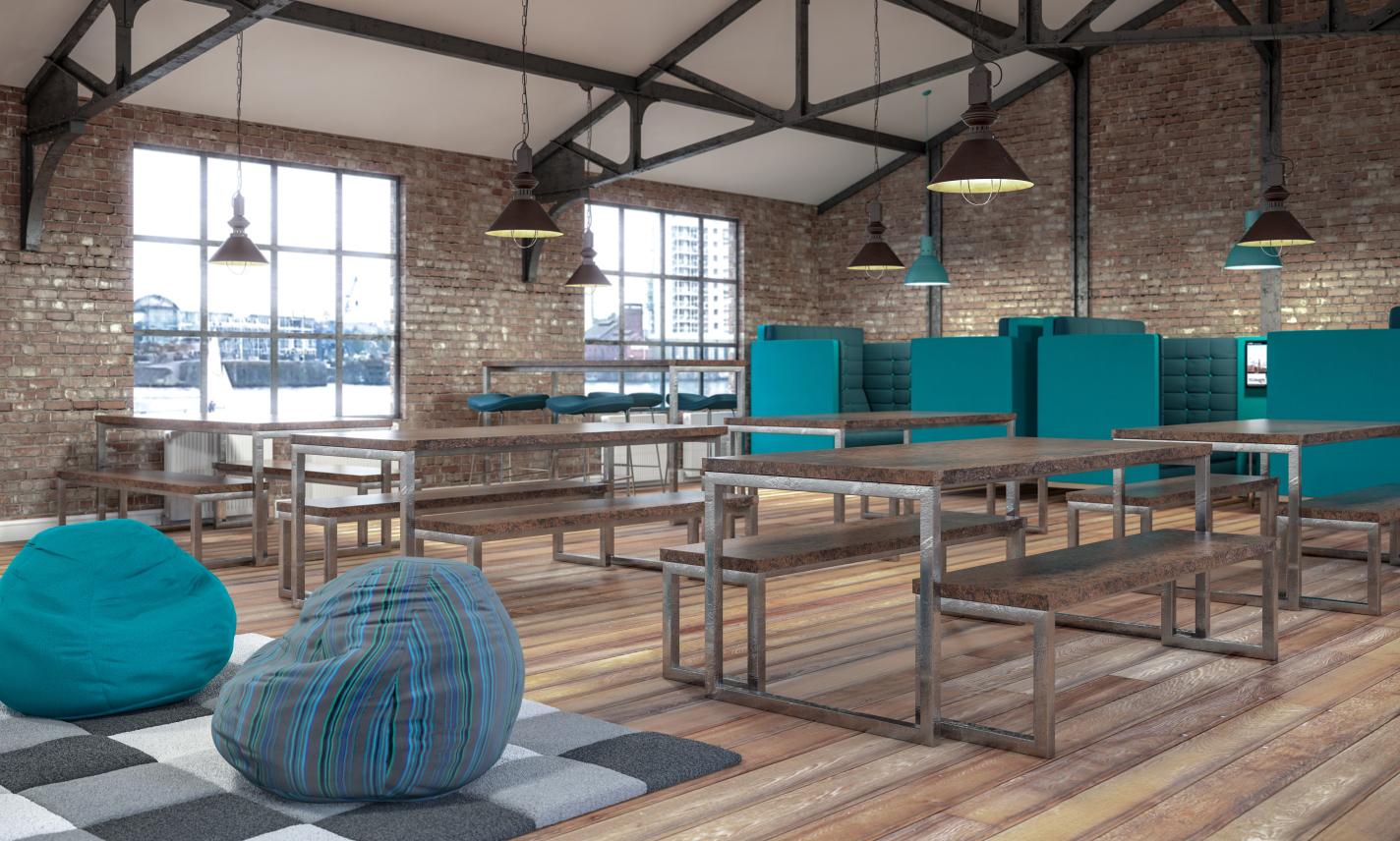 Block Gets The Rustic Look Corporate Workspace