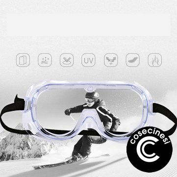 CAPONI Safety Glasses Supplies Eyes Protection Clear Anti Fog Dust Proof Medical Eye Glasses Transparent Protective Medical Use Safety Reading Glasses