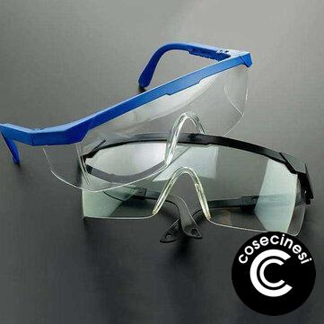 Safety Glasses Transparent Dust-Proof Anti-shock Glasses Working Glasses Eyewear Splash Protective Windproof Riding Protective Glasses Reading Glassess