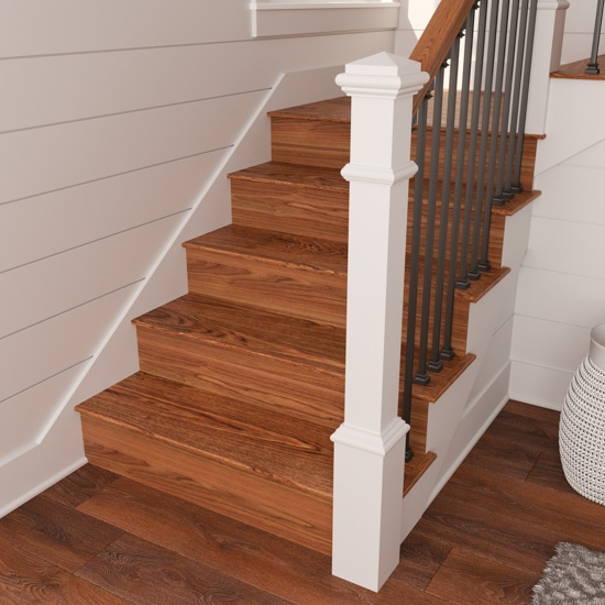 Reversible Stair Risers A Diy Revamp Cottage Style Decorating | Painted Risers On Stairs | Flair | Painting | Stained | Basement | Hardwood