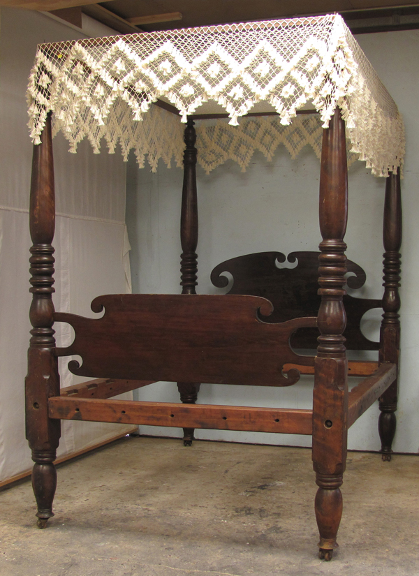 Antique Empire Four Poster Bed